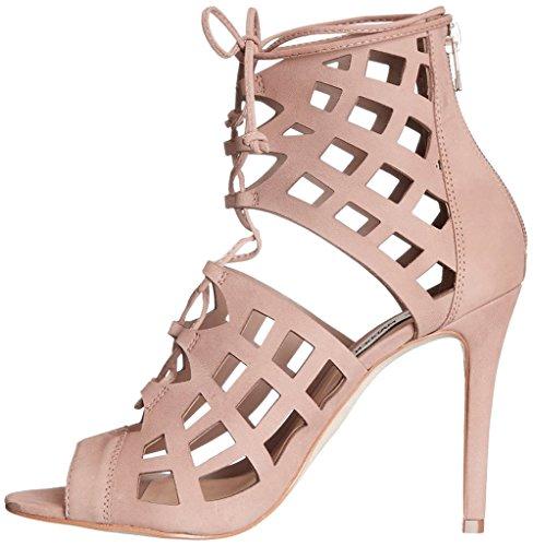 Calaier Mujer Caworld Tacón De Aguja 10CM Sintético Cremallera Sandalias de vestir Zapatos, Rosa, 38