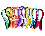 Gespout Papier Quilling Streifen Bunt 9 Arten Farben Papierstreifen Handwerk für Origami und Fröbelsterne 9 Stück