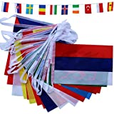 TOAOB 24 Differnet European Flags 7 Meters Long Multi Nation Bunting Eurovision Party Decoration Banner