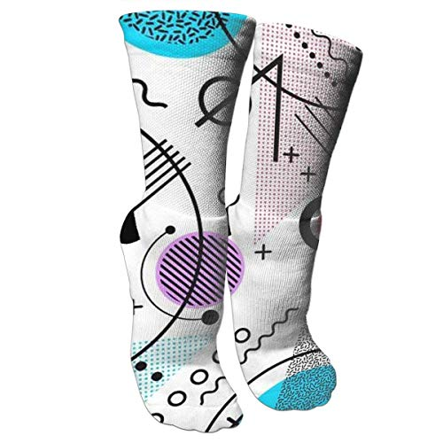 Nifdhkw Crazy Socks Color Elements 3D Crew Socks -
