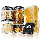MASTERTOP- Tarros Multiusos Cocina Recipientes Herméticos Plásticos PP de Cinco Tipos para el Almacenamiento...