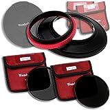 WonderPana 145 Kit ND - 145mm Porte-Filtre, Bouchon d'Objectif, et Filtres ND16 et ND32 pour l'objectif Sigma 12-24mm f/4.5-5.6 HSM II