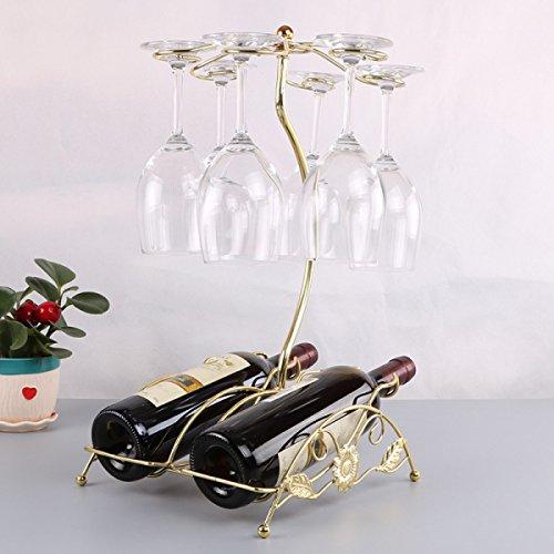 Wkaijc Rotwein Rack Ornamente Strand Stühle Mode Eisen Hängen Tasse Inhaber Zu Hause Kunst Hochzeit Dekorationen,Gold