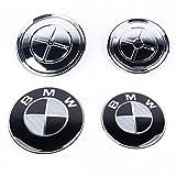 2 BOCCHETTE PER BMW logo emblema cofano 7er e23 e32 e38 e65 e66 f01 f02 f04-NUOVO
