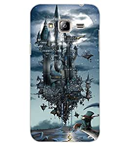 ColourCraft Flying Castle Design Back Case Cover for SAMSUNG GALAXY J3