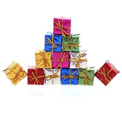 Tinksky Christmas Eve Box-48pcs Christmas Gift Boxes, Christmas Tree Decorations Ornaments (Random Color)