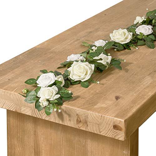 Ling 's Moment Elfenbeinfarben Zeremonie Tisch Arrangement Empfang Tisch Arrangements Hochzeit Tisch Aufsteller
