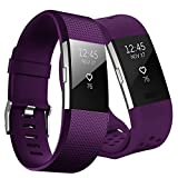 Kutop Fitbit Charge 2 Armband,Fitbit Charge2 Armbänder weiches Silikon Sporty Ersetzerband Silikagel Fitness verstellbares Uhrenarmband für Fit bit Charge 2