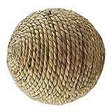 UKCOCO balle de foin de lapin, Jouets de lapin, de la corde de l'herbe naturelle boule tissus, Jouets balle à mâcher de lapin
