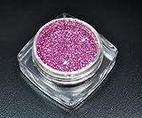 Premium Glitzer Glitter Puder Violett Plum Pink für Nailart
