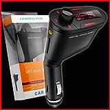 REALMAX® Auto Musica trasmettitore FM universale compatibile con tutte le marche cellulari lettori MP3Tablet e tutti i modelli di auto