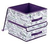 homyfort 2 Stück faltbox mit Deckel Faltbare Aufbewahrungsbox Stoffbox Lavendel 32 x 32 x 16 cm XLVLB2P