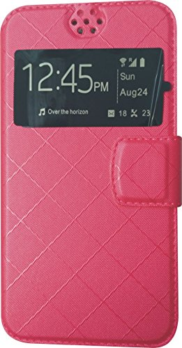 BKDT Marketing Leather look Flip Cover for Karbonn S1 Titanium With Stand - Pink  available at amazon for Rs.234