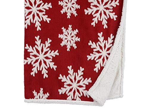 biorausch Kuscheldecke Schneeflocke, Rot/Weiß, 130x150cm