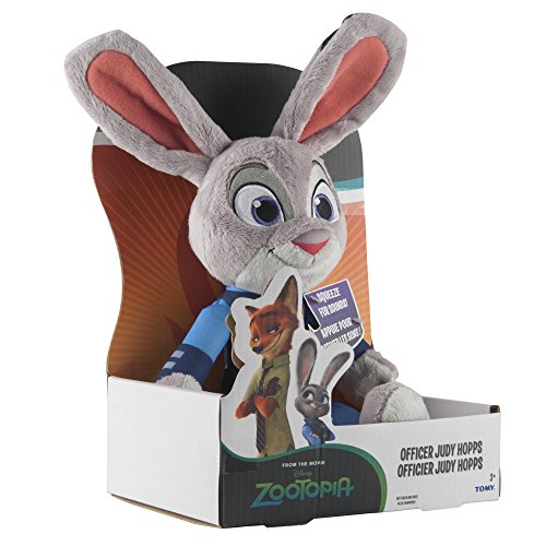 TOMY Zootropolis Officer Judy Hopps Soft Toy with Sound (Multi-Colour)