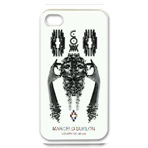 Étui pour téléphone iPhone 4/4S Blanc Marcelo burlon Mode Musique et Art mb305875