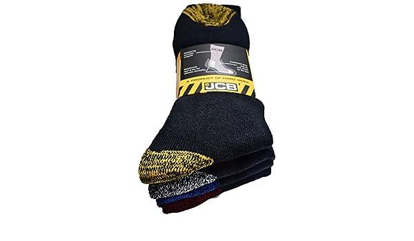 JCB calze da lavoro da uomo nero tallone rinforzato ideale per la costruzione /& STEEL PUNTALE