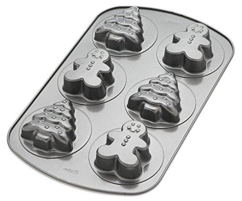 Wilton Baum Lebkuchen Sechs Loch Dose Gingerbread Cookie Pan