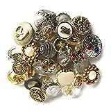 Botones Galore Dorado/Plateado diseño de botón de plástico Resistente