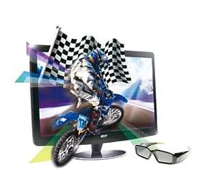 Acer HN274Hbmiiid 68,6 cm (27 Zoll) 3D LED Monitor (Full-HD, VGA, DVI, HDMI, 2ms Reaktionszeit) schwarz inkl. Nvidia 3D Shutter Brille