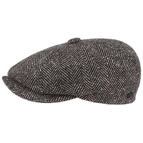 Lierys Fischgrat Flatcap (Schiebermütze) Herren | Hatteras Cap aus Schurwolle (Tweed) mit Fischgräten Muster | Mütze Größen S, M, L, XL | verschiedene Farben | Herbst/Winter (M/56-57, dunkelbeige) Tweed Ivy Hat