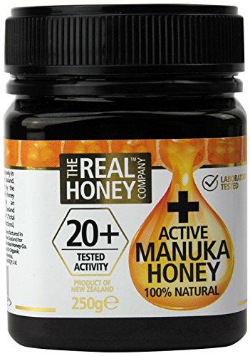 THE REAL HONEY Company NATURAL + Active Miel Manuka 20+ 250g - Pack of 1