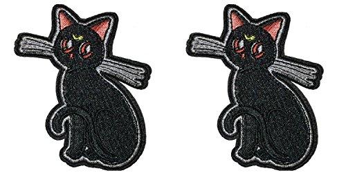 y Cat Spirit Logo Manga Anime Cosplay Badge gesticktes Eisen oder aufgesetzte Aufnäher Patch 2er Pack Geschenk-Set ()