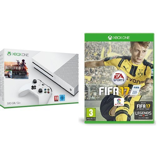 Xbox One - Pack Consola S 500 GB: Battlefield 1 + FIFA 17 - Standard Edition