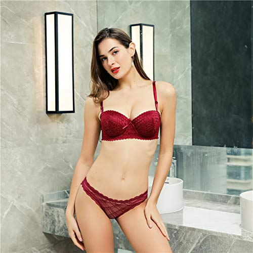 DKNBI BH Push Up Lady B Cup Unterwäsche Sexy Lace Frauen Floral Bralette - 4