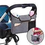 Stroller Organiser , Jerrybox Pram Buggy Buddy Storage Bag With Mobile Phone Holder  PLUS Leather Strap