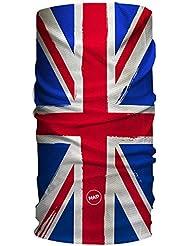 HAD Écharpe multifonction adultes original Angleterre, bleu/rouge/blanc, Taille Unique, HA110–0596