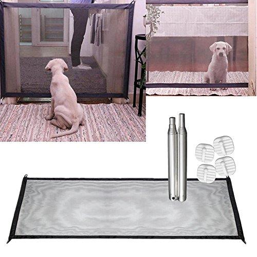 Wokee Sicherheitsschutz Tragbarer Faltender Schutz Hunde Geländer Isolationsnet für Haustier Hundekatze Gaze Schäden an Möbeln und Wänden,Sicherheit Tor Mesh (180*72cm) -