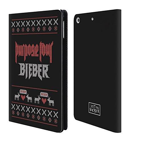 Offizielle Justin Bieber Purpose Tour Gestrickte Weihnachten Brieftasche Handyhülle aus Leder für Apple iPad mini 4 (Leder Gestrickte)
