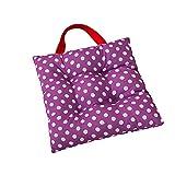 Sitzkissen für Kinder, Punktemuster, 27 x 27 cm, für Esszimmer, Garten, Kindergarten, von CZ Fashion violett