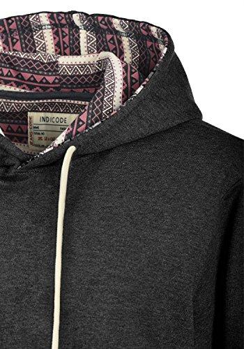 INDICODE Angus Herren Kapuzenpullover Hoodie Sweatshirt aus hochwertiger Baumwollmischung Charcoal Mix (915)