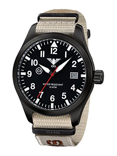KHS Mens Watch Airleader Black Steel KHS.AIRBS.NXTLT5