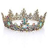 Handcess barocco wedding Rond corona e tiara Regina principessa strass fascia per donne e ragazze