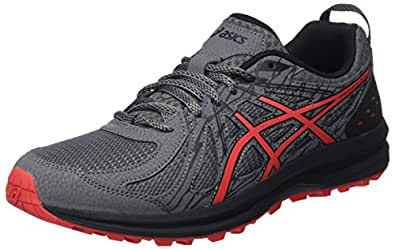 ASICS Frequent Trail, Chaussures de Running Homme, Multicolore (Carbon/Red Alert 021), 40 EU