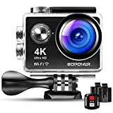 Aktion Kamera, Bopower 4K 12MP 1080P Sport Action Cam  FHD 2,0 Zoll 170 ° Weitwinkel 30M...