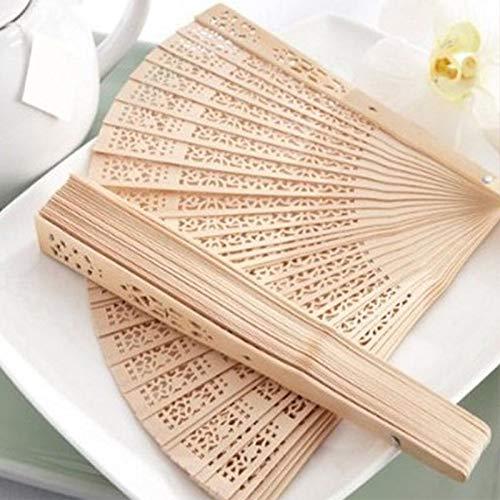 ShAwng Chinese Japanese Folding Fan Original Holz Hand Blume Bambus Taschenventilator für Wohnkultur Decoracion Fiestas