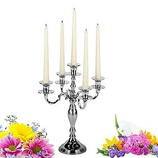 albena shop 73-101 Devi 5-arm cendelholder chandelier 37cm / 29cm silver