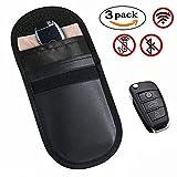 3 X Keyless Go Schutz Autoschlüssel, MONOJOY Auto Signal Keyless Schlüsseletui Funkschlüssel Abschirmung, RFID Key Safe Strahlenschutz Tasche