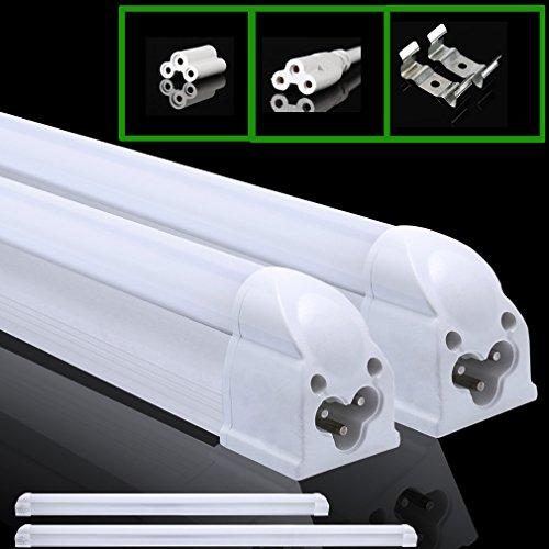 2 X Auralum® 60CM T5 G5 810LM LED Lampada fluorescente, risparmio energetico Tubo del LED 8W colore: bianco freddo