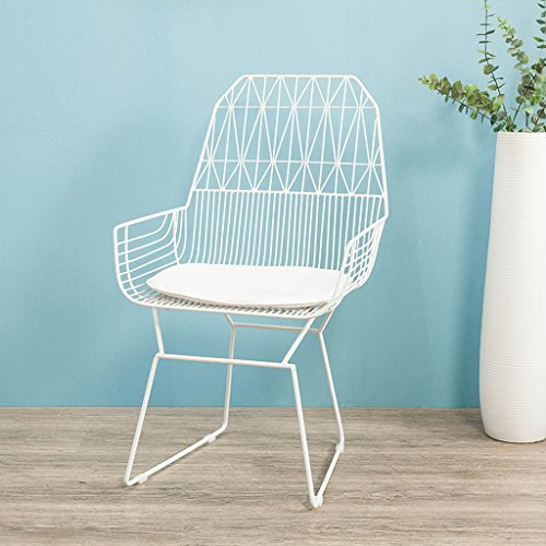 Anyer Créativité Café-Restaurant Fauteuil Creux Fil Barbelé Chaises Simple Iron Art Chaise en Plein Air Restaurant Chaise Balcon Lounge Chair Quatre Couleurs en Option,A