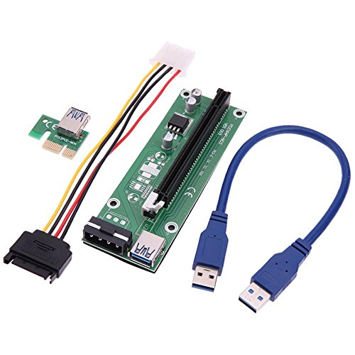akaddy USB 3.0 PCI-E Express 1x to 16x Extender Riser Card Adapter -