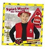 Spielweste Feuerwehr Kinder Feuerwehrweste rot 104