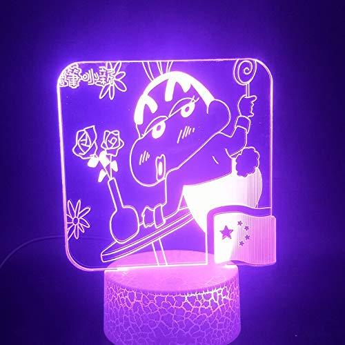 Luz de Noche LED 3D-Vision-Seven-Color-Remote-Light Personaje de Anime japonés Lindo Regalo para la decoración de la Sala de Estar de los niños Base Brillante luz de Noche led