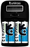 Uniross 1-2hr Charger With 4 X AA 2600 Series Rechargeable Batteries