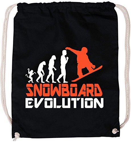 EZYshirt Snowboard Evolution Baumwoll Stoffbeutel