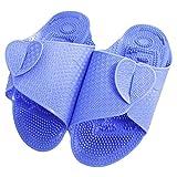 Meta-U Portable Fuß Massieren Pantoffeln / Sandalen / Schuhe / Schuhe FÜR Haus / BÜRo / Hotel / Reisen (L, Blau)